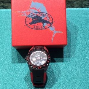 Tommy Bahamas Men's watch. RLX1146. Red & Black